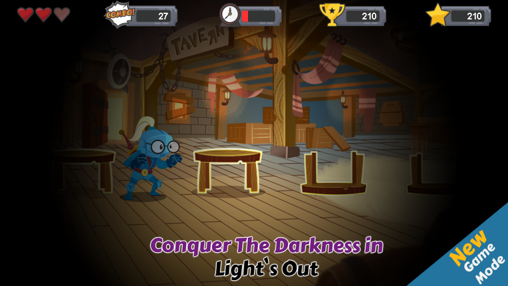 Light's Out a challenging mode it will test both your memory and speed will you master the dark or will you fall?